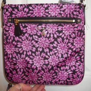 NWT Michael Kors Blk/Ultrapink Large Nylon Bag